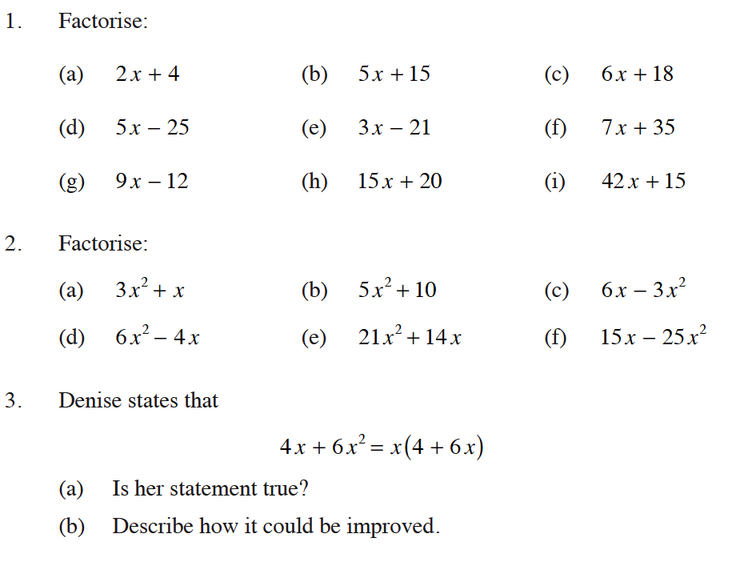 factorising polynomials worksheets term 2 Factoring polynomials factor a polynomial by factoring out a common factor notice in this example that there is a gcf of 2 this means we can factor out (or divide) 2 from each term in the polynomial factor 28z 2 + 6z - 10 = 2(14z 2 + 3z - 5.