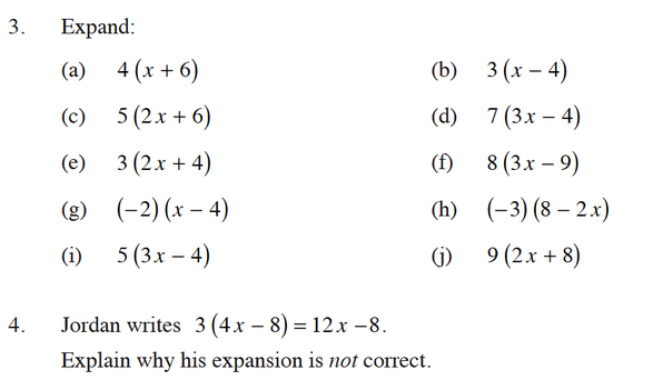 Expanding and Factorising Expressions